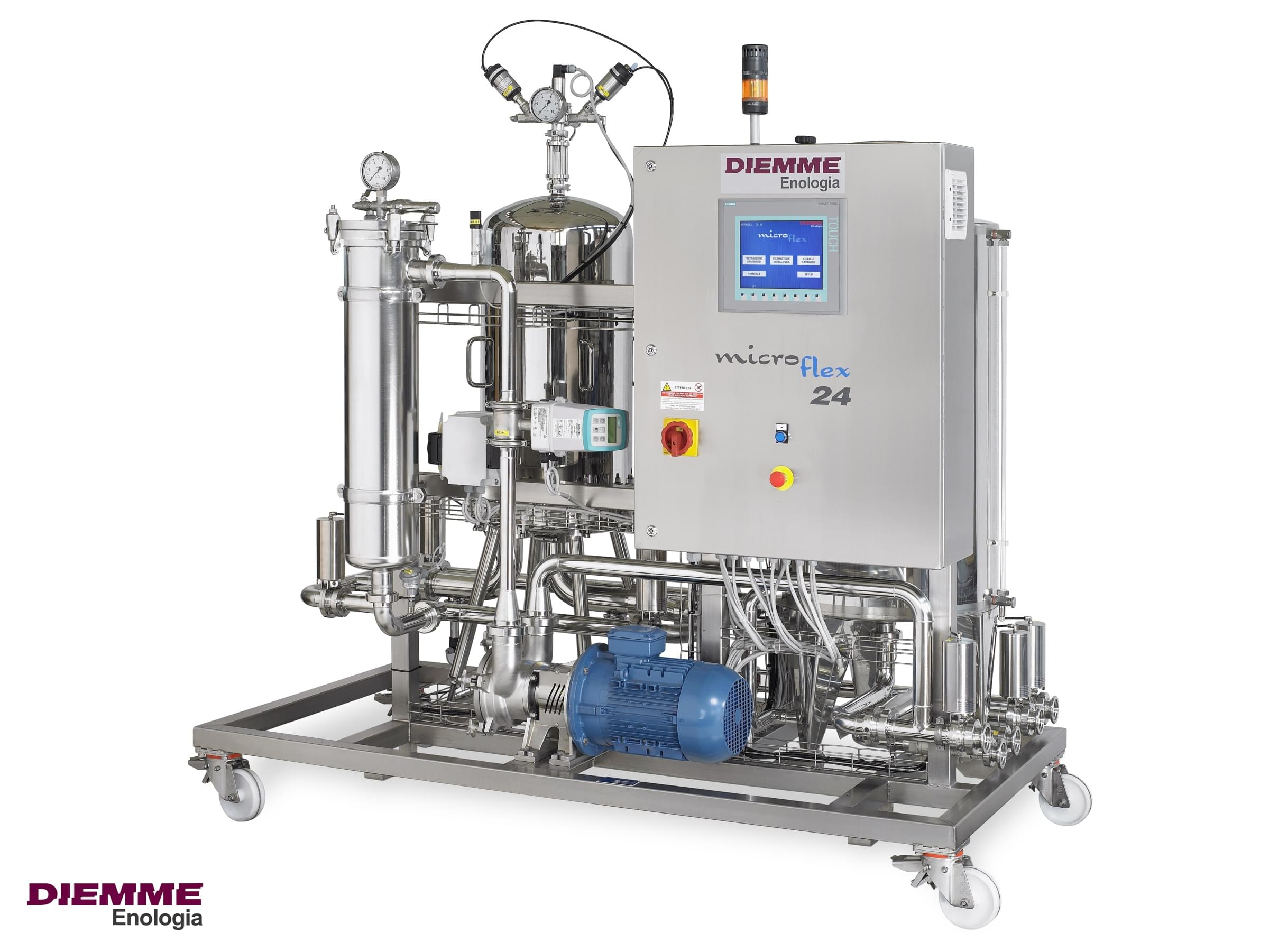 filtration equipment for grape and wine processing