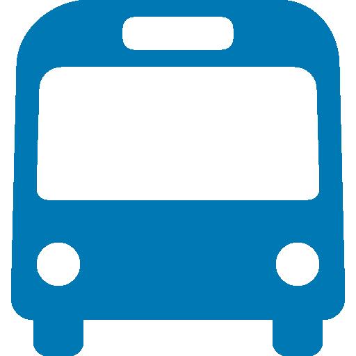 Blue bus icon