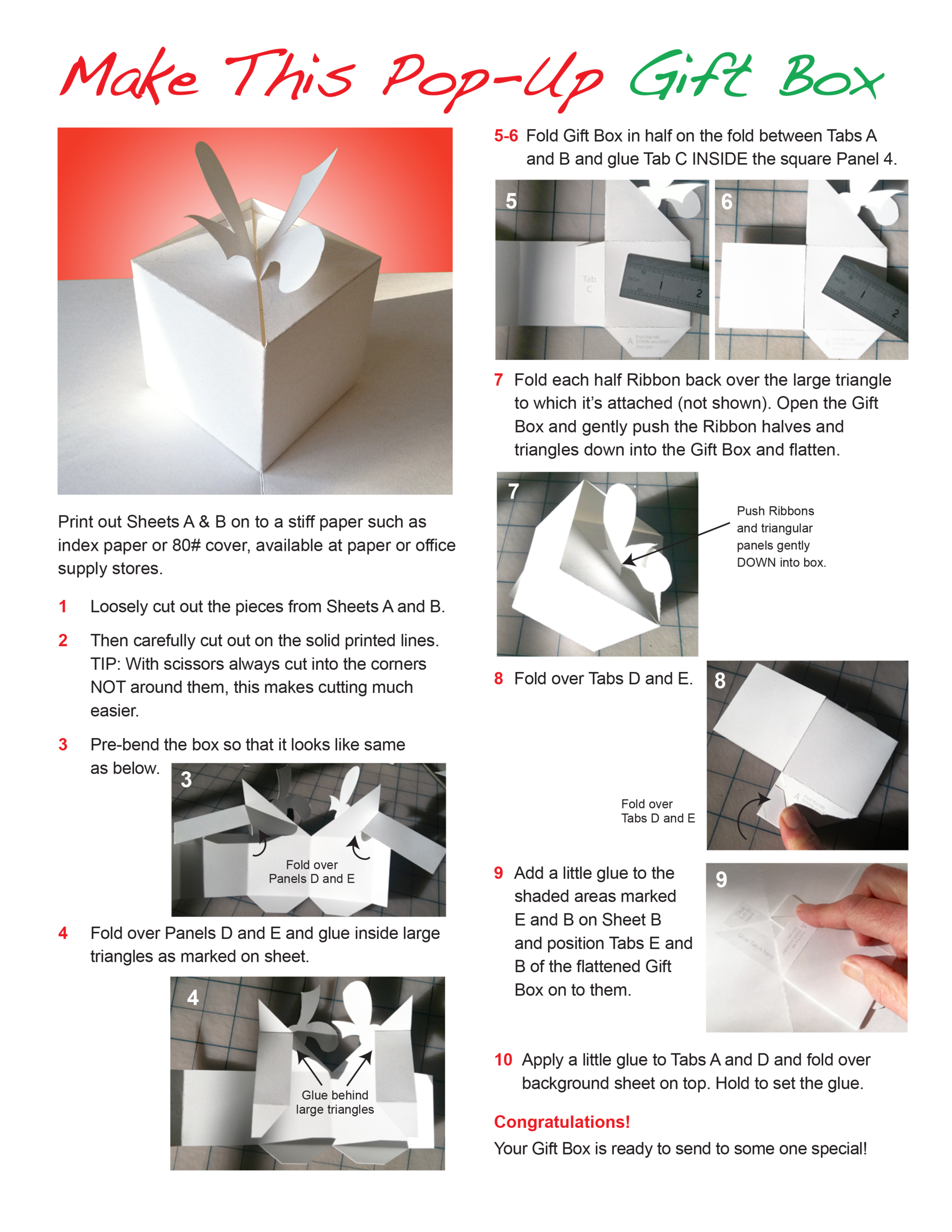 Click On The Images To Right Download Instructions And Printing Sheets Your Computer