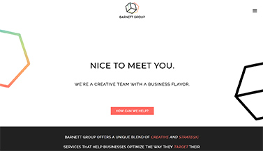 The Barnett Group, a digital strategy agency, uses Brandcast to power their corporate website.