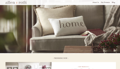 Allen & Roth, a home decor brand sold exclusively at Lowe's, uses Brandcast to showcase their products and offer interior decorating tips and tricks.