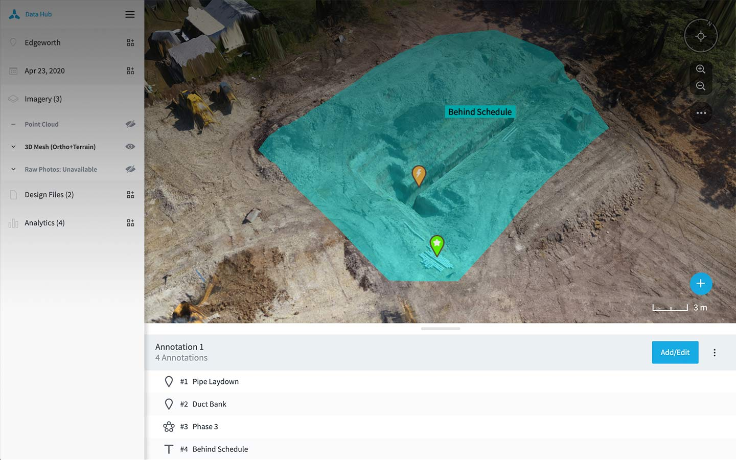 Annotations drone analytics