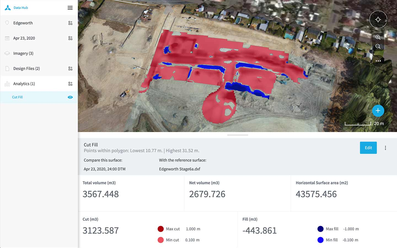 Design File drone analytics in Data Hub