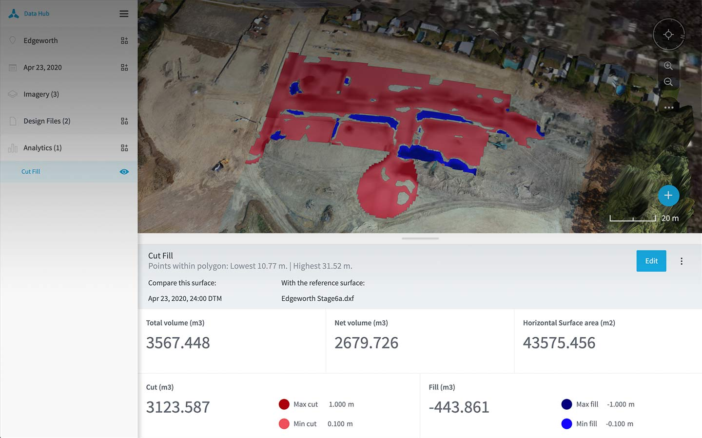 Design files drone analytics in Data Hub