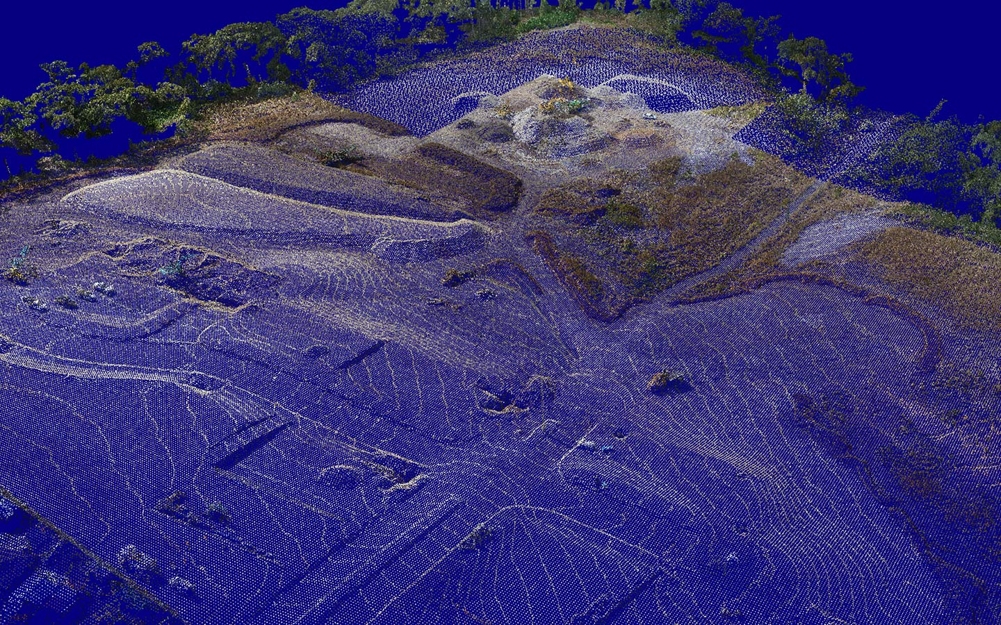 Point cloud drone analytics in Data Hub