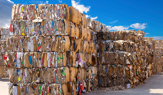 recycle bales of paper Waste Management