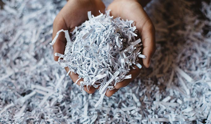 recycling shredded paper waste management