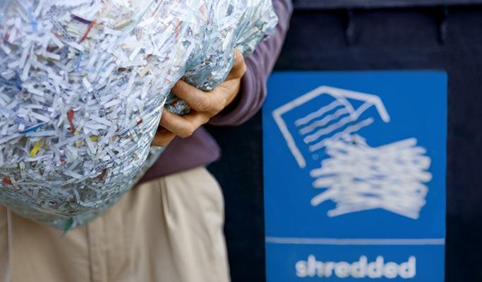 Shredded Paper Waste Management
