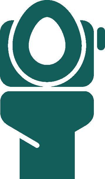A toilet icon